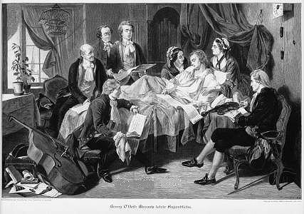 Mozart dirigiendo el Requiem